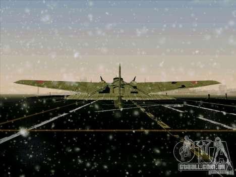 TB-3 para GTA San Andreas vista traseira