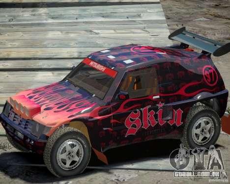 Mitsubishi Pajero Proto Dakar EK86 vinil 4 para GTA 4 vista de volta