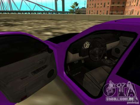 Lexus IS300 - Stock para GTA San Andreas vista traseira