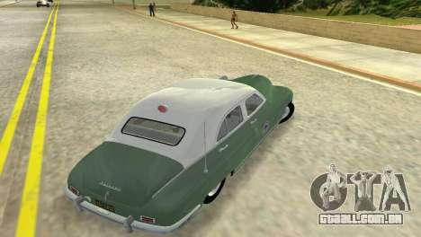Packard Standard Eight Touring Sedan Police 1948 para GTA Vice City vista direita