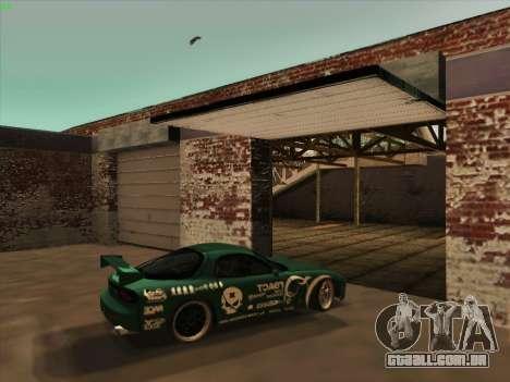 Mazda RX7 rEACT para GTA San Andreas vista interior