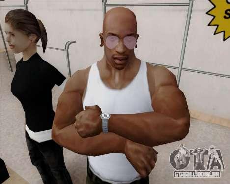 Óculos de aviador rosa para GTA San Andreas por diante tela