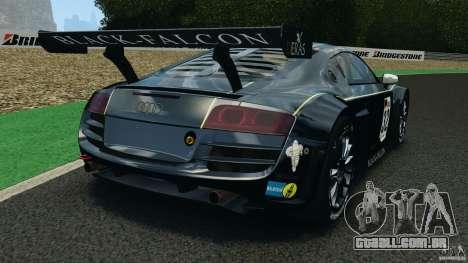 Audi R8 LMS para GTA 4 traseira esquerda vista