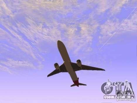 Boeing 787 Dreamliner Qantas para GTA San Andreas vista direita