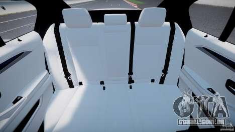 BMW M5 F10 2012 M Stripes para GTA 4 vista de volta