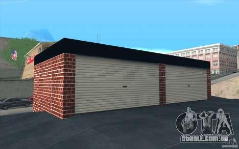 Nova garagem em Dorothy para GTA San Andreas por diante tela