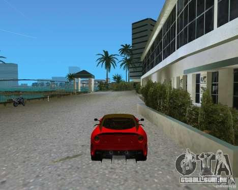 Ferrari 599 GTO para GTA Vice City vista traseira esquerda