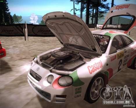 Toyota Celica ST-205 GT-Four Rally para GTA San Andreas vista direita