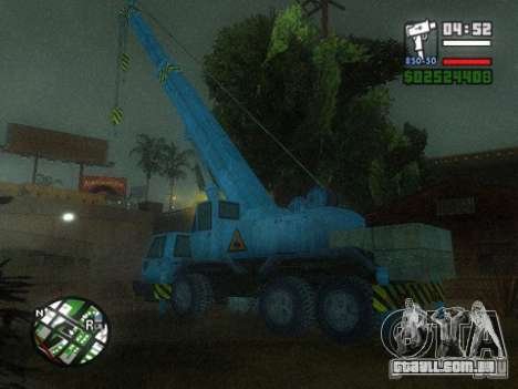 Split Second - Static Truck para GTA San Andreas esquerda vista