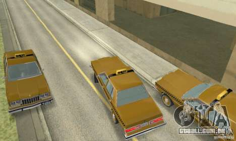 Dodge Diplomat 1985 Taxi para GTA San Andreas traseira esquerda vista