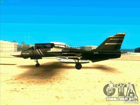 F-14 Tomcat Schnee para GTA San Andreas esquerda vista