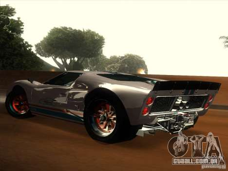 Ford GT40 1966 para GTA San Andreas vista superior