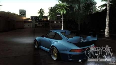Porsche 993 RWB para GTA San Andreas vista direita