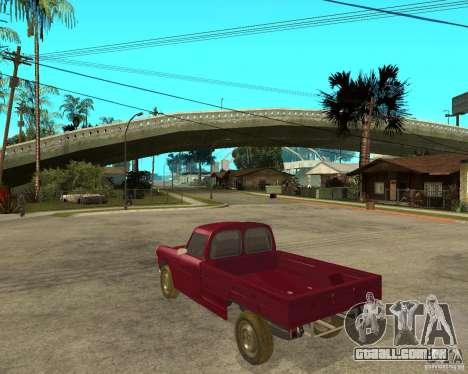 Peugeot 404 UXD para GTA San Andreas esquerda vista