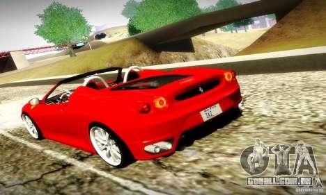 Ferrari F430 Spider para GTA San Andreas vista superior