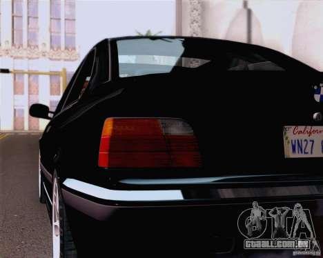 BMW M3 E36 New Wheels para GTA San Andreas vista traseira