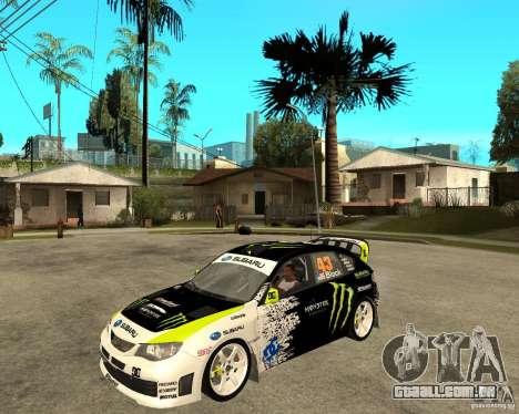Ken Block Subaru Impreza WRX STi 2009 para GTA San Andreas