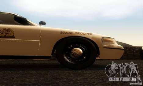 Ford Crown Victoria Utah Police para GTA San Andreas vista direita