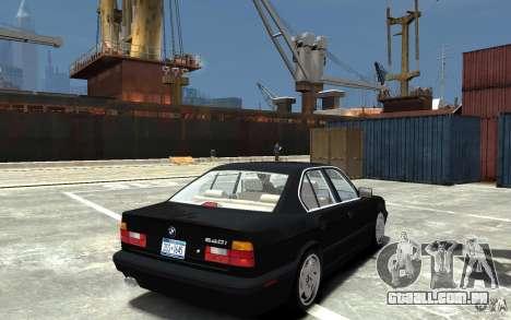 BMW 540i E34 v3.0 para GTA 4 vista direita
