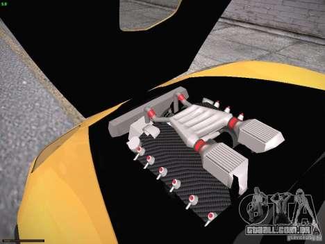 Chevrolet Corvette ZR1 para GTA San Andreas vista inferior