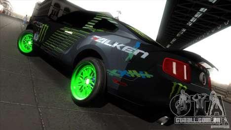 Ford Shelby GT500 Falken Tire para GTA San Andreas vista direita