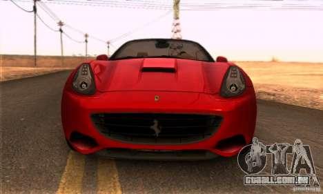 Ferrari California V3 para GTA San Andreas vista direita