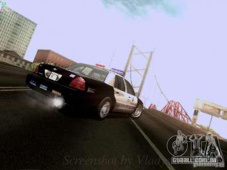 Ford Crown Victoria Los Angeles Police para vista lateral GTA San Andreas