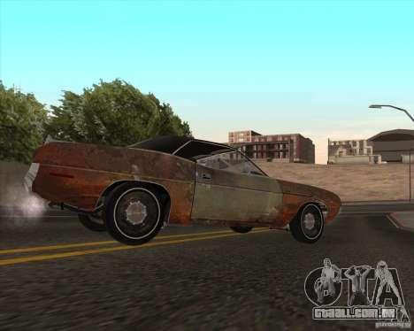 Plymouth Cuda Ragtop 1970 para GTA San Andreas esquerda vista