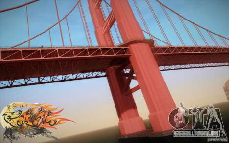 New Golden Gate bridge SF v1.0 para GTA San Andreas quinto tela