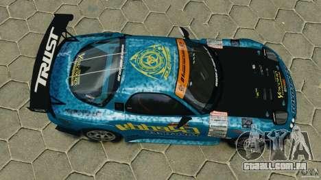 Mazda RX-7 RE-Amemiya para GTA 4 vista direita