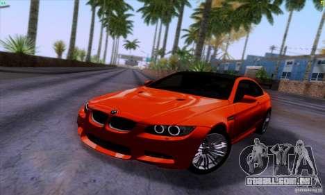 BMW M3 E92 v1.0 para GTA San Andreas vista traseira