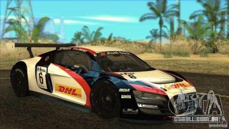 Audi R8 LMS para GTA San Andreas vista interior
