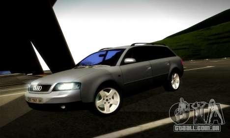 Audi A6 C5 Avant 3.0 para GTA San Andreas esquerda vista
