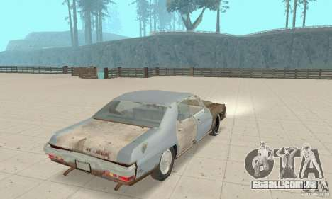 Pontiac LeMans 1970 Scrap Yard Edition para GTA San Andreas esquerda vista