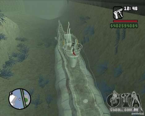 U99 German Submarine para GTA San Andreas terceira tela
