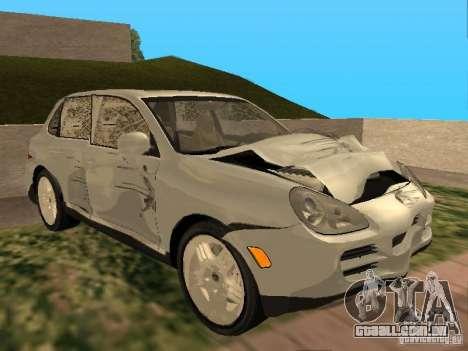Porsche Cayenne para GTA San Andreas vista interior