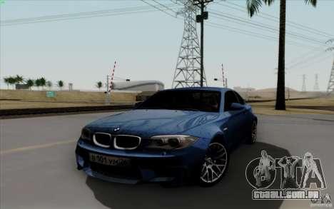 BMW 1M 2011 V3 para GTA San Andreas vista traseira