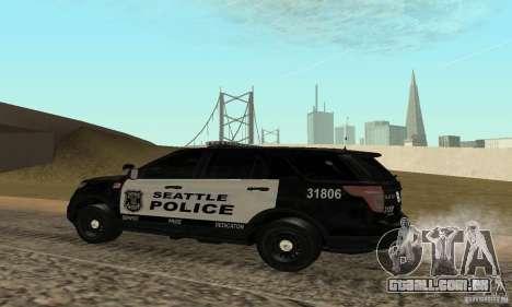 Ford Police Interceptor Utility 2011 para GTA San Andreas esquerda vista