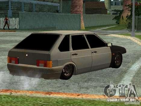 ВАЗ 2114 Hobo para GTA San Andreas esquerda vista