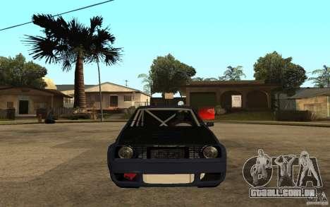 Volkswagen Golf GTI 2 Tuning para GTA San Andreas vista direita