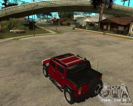AMG H2 HUMMER SUT para GTA San Andreas esquerda vista