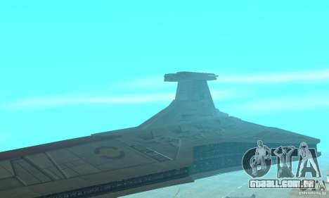 Republic Attack Cruiser Venator class v2 para GTA San Andreas traseira esquerda vista