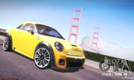 Mini Concept Coupe 2010 para GTA San Andreas vista traseira