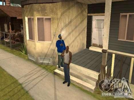 Você pode sentar, fumar, beber uísque, vômitos,  para GTA San Andreas segunda tela