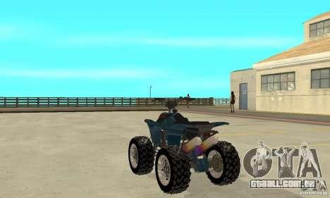 Honda Sportrax para GTA San Andreas traseira esquerda vista