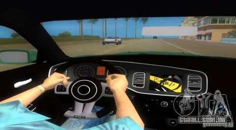 Dodge Charger para GTA Vice City vista traseira esquerda