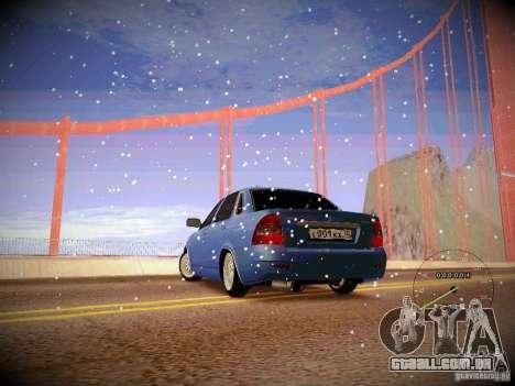 Lada Priora Turbo v2.0 para GTA San Andreas esquerda vista