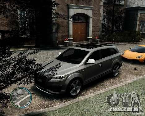Audi Q7 V12 TDI Quattro Updated para GTA 4 vista de volta