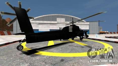 Hunter para GTA 4 traseira esquerda vista