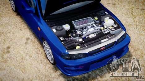 Subaru Impreza WRX STI 1999 v1.0 para GTA 4 vista interior